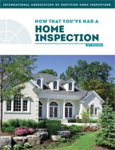 Now that you have had a home inspection book