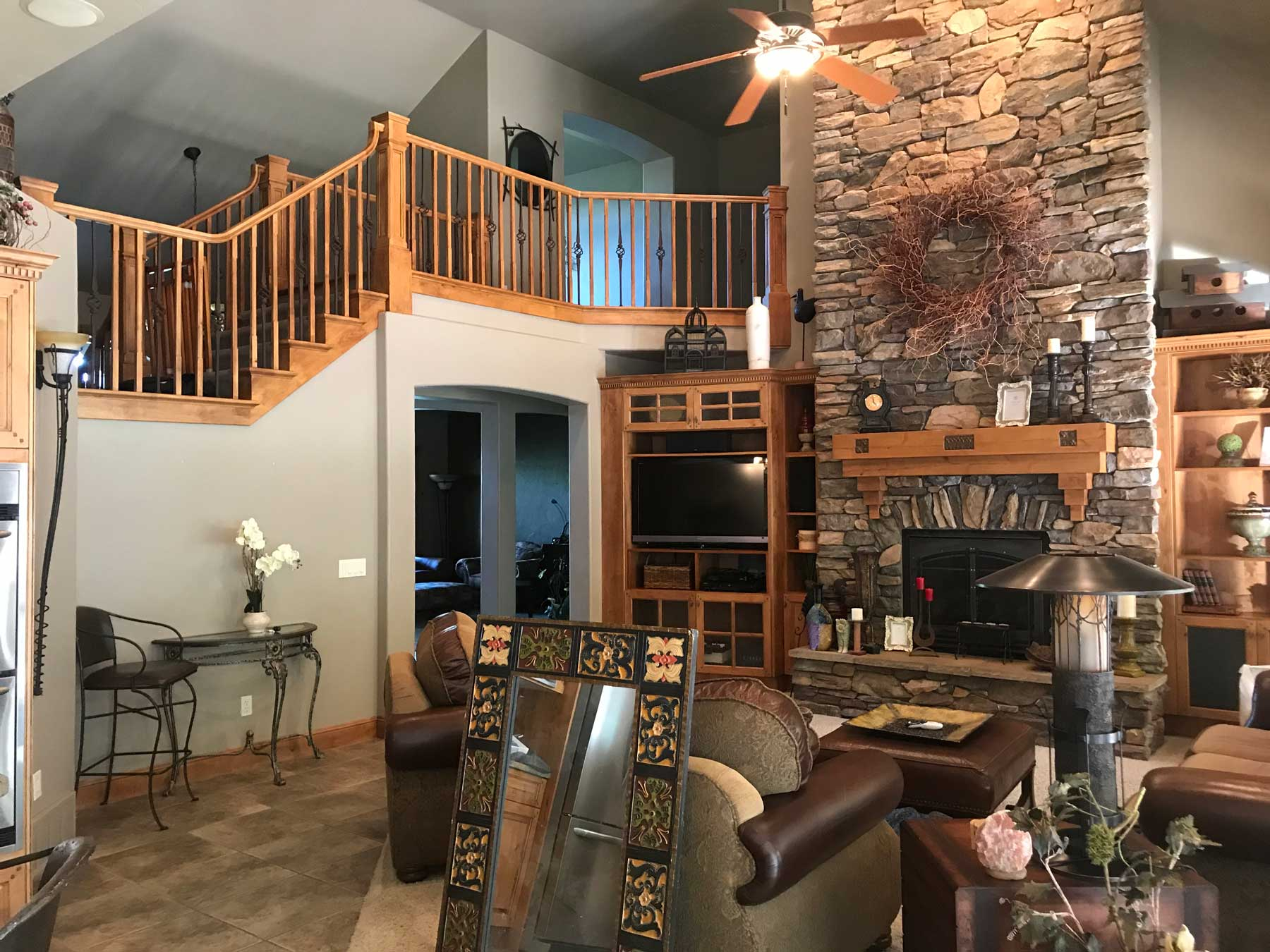 Home Inspectors Of Utah house with fireplace