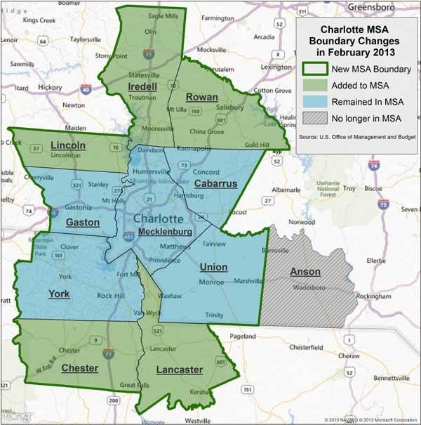 Charlotte Metro area map service area