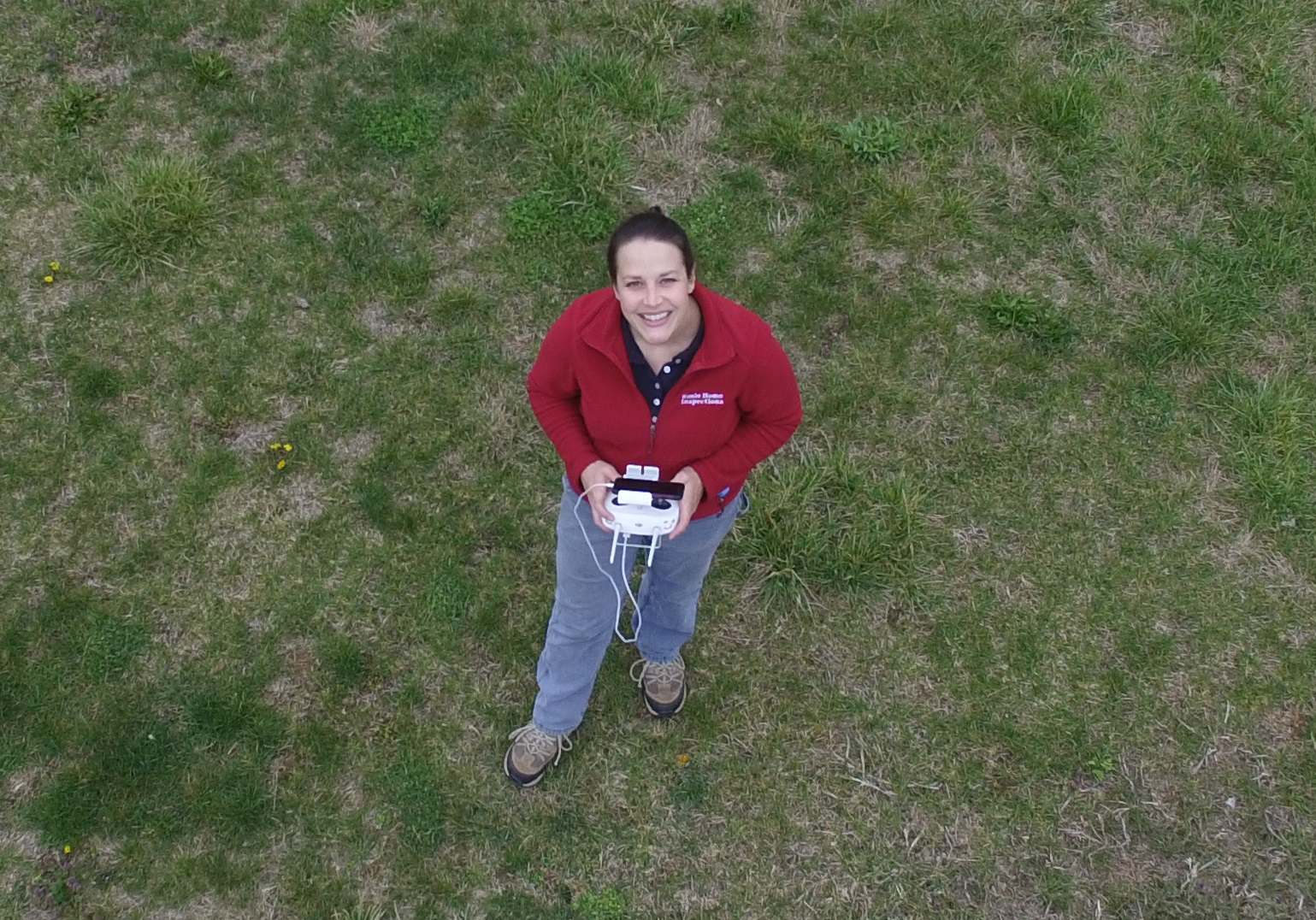 Kari Cheek, Owner, Rosie Home Inspections Drone Selfie