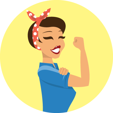 Rosie the Riveter graphic